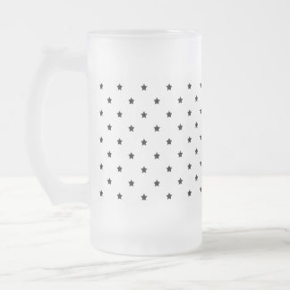 White and Black Star Pattern. Coffee Mug
