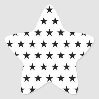 White and Black Stars Star Sticker
