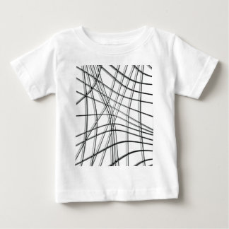 White and black warped lines baby T-Shirt