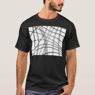 White and black warped lines T-Shirt