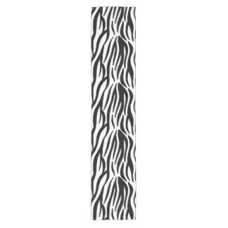 White and Black Zebra Pattern Short Table Runner