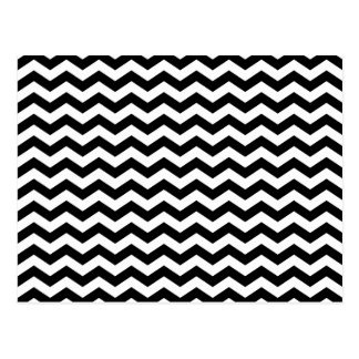 White and Black Zig Zag Postcard