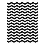 White And Black Zigzag Chevron Pattern