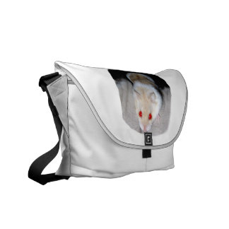 White and blonde albino hamster picture courier bag