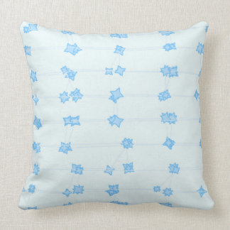 White and Blue Flowers Pillow