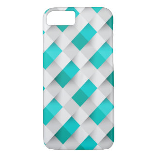 White And Blue Mosaic Pattern iPhone 7 Case