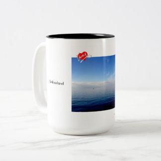 White and Blue on Lac Léman - mug