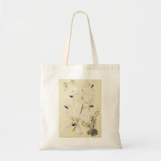 White and Blue Orchids Tote Bag