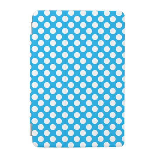 White and blue polka dot pattern iPad mini cover