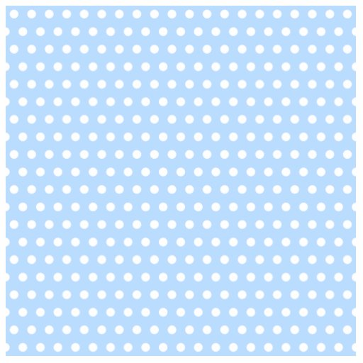 White and Blue Polka Dot Pattern. Spotty. Acrylic Cut Outs