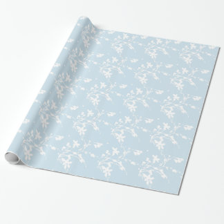 White and Blue Purple Floral Pattern
