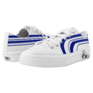 White and Blue Sojourn Max Low-Top Sneakers