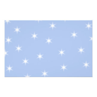 White and Blue Stars Design. Flyers