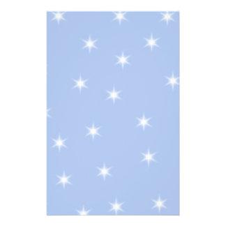 White and Blue Stars Design. Flyer Design