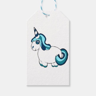White and blue unicorn ,cute  fantasy creature pack of gift tags