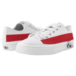 White and Brick Red Two-Tone Lo-Top