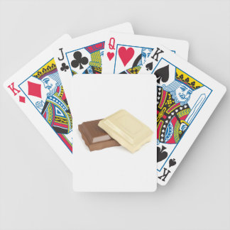 White and brown chocolate bicycle playing cards