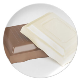 White and brown chocolate dinner plates