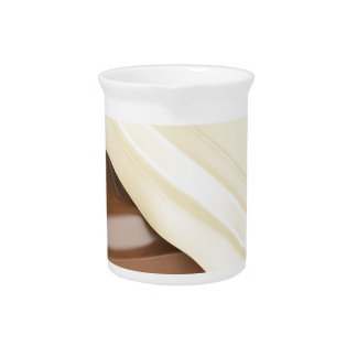 White and brown chocolate drink pitcher