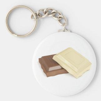 White and brown chocolate keychain