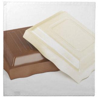 White and brown chocolate napkin