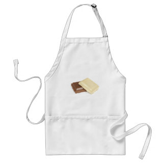 White and brown chocolate standard apron