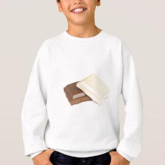 White and brown chocolate sweatshirt