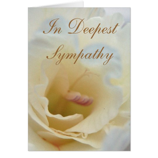 White and Cream Sympathy Card