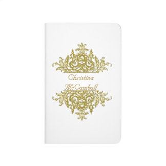 White and Gold Baroque Journal