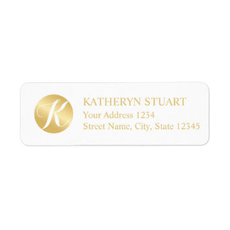 White and Gold Elegant Monogram
