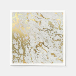 white and gold marble napkin disposable napkins