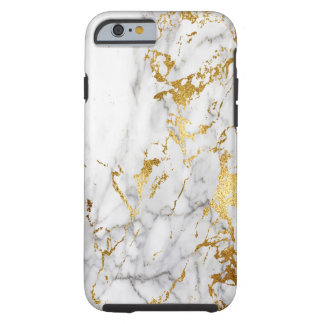 White and Gold Marble Pattern Trending Urban Tough iPhone 6 Case
