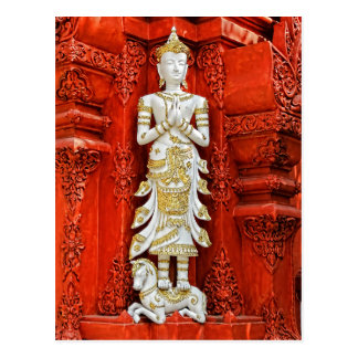 White and Gold statue Postcard