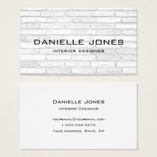White and Gray Brick Simple Design Business Card