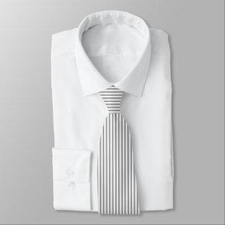 White And Gray Geometric Stripes Tie