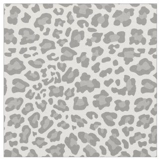 White and Gray Leopard Fabric