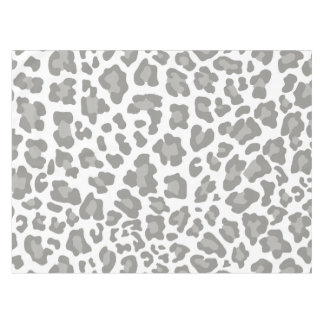 White and Gray Leopard Tablecloth