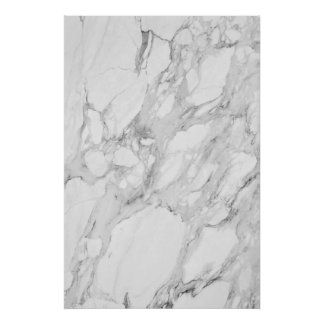 White and Gray Marble Poster