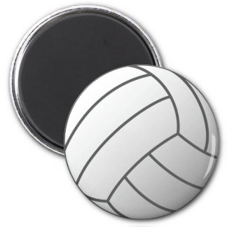 White and Gray Volleyball Magnet