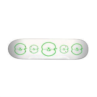White and Green Apple Half Skateboard Decks