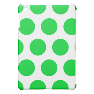 White and green  polka dot  iPad mini Case For The iPad Mini