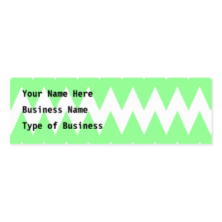 White and Green Zigzags. Business Card