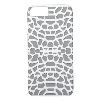 White and grey laser cutout cut out pattern design iPhone 7 case