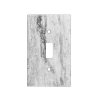 White And Grey Marble Texture Pattern Light Switch Cover