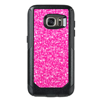 White And Hot Pink Glitter OtterBox Samsung Galaxy S7 Case