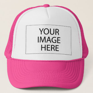 White and Hot Pink Trucker Hat