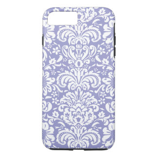 White And Lavender Floral Damasks iPhone 7 Plus Case