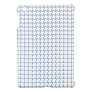 White and Light Blue Tiled Pattern Cover For The iPad Mini