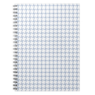 White and Light Blue Tiled Pattern Notebook