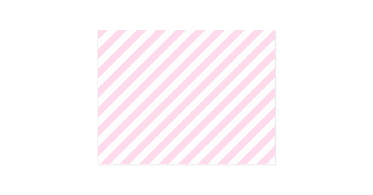 White and Light Pink Stripes. Postcard | Zazzle.ca